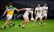 8 November 2020; Con Kavanagh of Kildare gets away from Rory Egan of Offaly during the Leinster GAA Football Senior Championship Quarter-Final match between Offaly and Kildare at MW Hire O'Moore Park in Portlaoise, Laois. Photo by Piaras Ó Mídheach/Sportsfile