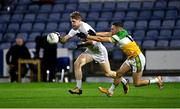8 November 2020; Daniel Flynn of Kildare in action against Anton Sullivan of Offaly during the Leinster GAA Football Senior Championship Quarter-Final match between Offaly and Kildare at MW Hire O'Moore Park in Portlaoise, Laois. Photo by Piaras Ó Mídheach/Sportsfile