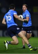 7 November 2020; Ciarán Kilkenny, right, and Dean Rock of Dublin during the Leinster GAA Football Senior Championship Quarter-Final match between Dublin and Westmeath at MW Hire O'Moore Park in Portlaoise, Laois. Photo by David Fitzgerald/Sportsfile