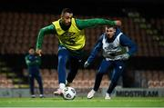 9 November 2020; Adam Idah and James McCarthy, right, during a Republic of Ireland training session at The Hive in Barnet, England. Photo by Stephen McCarthy/Sportsfile