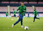 9 November 2020; Adam Idah during a Republic of Ireland training session at The Hive in Barnet, England. Photo by Stephen McCarthy/Sportsfile