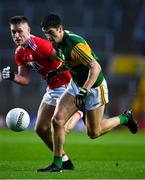 8 November 2020; Tony Brosnan of Kerry in action against Kevin Flahive of Cork during the Munster GAA Football Senior Championship Semi-Final match between Cork and Kerry at Páirc Uí Chaoimh in Cork. Photo by Brendan Moran/Sportsfile