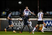 9 November 2020; Sean Hoare of Dundalk in action against Junior Ogedi-Uzokwe of Sligo Rovers during the SSE Airtricity League Premier Division match between Dundalk and Sligo Rovers at Oriel Park in Dundalk, Louth. Photo by Sam Barnes/Sportsfile