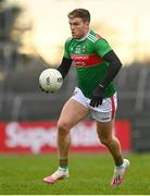8 November 2020; Jordan Flynn of Mayo during the Connacht GAA Football Senior Championship Semi-Final match between Roscommon and Mayo at Dr Hyde Park in Roscommon. Photo by Harry Murphy/Sportsfile
