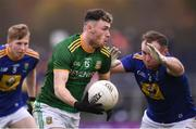 8 November 2020; Jordan Morris of Meath in action against Eoin Murtagh of Wicklow during the Leinster GAA Football Senior Championship Quarter-Final match between Wicklow and Meath at the County Grounds in Aughrim, Wicklow. Photo by Matt Browne/Sportsfile