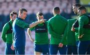 10 November 2020; Manager Stephen Kenny speaking to his players during a Republic of Ireland training session at The Hive in London, England. Photo by Stephen McCarthy/Sportsfile