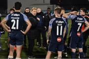 9 November 2020; Sligo Rovers manager Liam Buckley gives a team talk following the SSE Airtricity League Premier Division match between Dundalk and Sligo Rovers at Oriel Park in Dundalk, Louth. Photo by Sam Barnes/Sportsfile