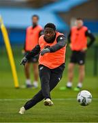 11 November 2020; Michael Obafemi during a Republic of Ireland U21 training session at the FAI National Training Centre in Abbotstown, Dublin. Photo by Seb Daly/Sportsfile