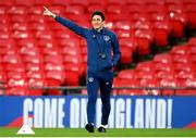 11 November 2020; Republic of Ireland coach Keith Andrews during a Republic of Ireland training session at Wembley Stadium in London, England. Photo by Stephen McCarthy/Sportsfile
