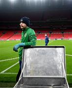 11 November 2020; Caoimhin Kelleher during a Republic of Ireland training session at Wembley Stadium in London, England. Photo by Stephen McCarthy/Sportsfile