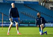 12 November 2020; Devin Toner, left, and Scott Fardy during a Leinster Rugby squad training session at the RDS Arena in Dublin. Photo by Brendan Moran/Sportsfile