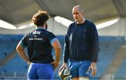 12 November 2020; Devin Toner, right, and Michael Milne during a Leinster Rugby squad training session at the RDS Arena in Dublin. Photo by Brendan Moran/Sportsfile
