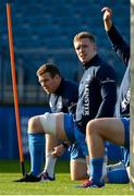 12 November 2020; Dan Leavy, right and Seán Cronin during a Leinster Rugby squad training session at the RDS Arena in Dublin. Photo by Brendan Moran/Sportsfile