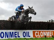 12 November 2020; Bachasson, with David Mullins up, jumps the last on their way to winning the Clonmel Oil Steeplechase at Clonmel Racecourse in Clonmel, Tipperary. Photo by Seb Daly/Sportsfile