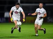 8 November 2020; David Hyland of Kildare, supported by team-mate Ben McCormack during the Leinster GAA Football Senior Championship Quarter-Final match between Offaly and Kildare at MW Hire O'Moore Park in Portlaoise, Laois. Photo by Piaras Ó Mídheach/Sportsfile