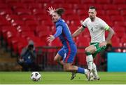 12 November 2020; Jack Grealish of England in action against Shane Duffy of Republic of Ireland during the International Friendly match between England and Republic of Ireland at Wembley Stadium in London, England. Photo by Matt Impey/Sportsfile
