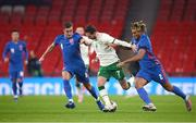 12 November 2020; Alan Browne of Republic of Ireland in action against Harry Winks, left, and Reece James of England during the International Friendly match between England and Republic of Ireland at Wembley Stadium in London, England. Photo by Stephen McCarthy/Sportsfile
