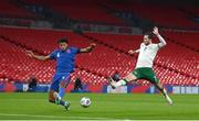 12 November 2020; Tyrone Mings of England in action against Alan Browne of Republic of Ireland during the International Friendly match between England and Republic of Ireland at Wembley Stadium in London, England. Photo by Stephen McCarthy/Sportsfile