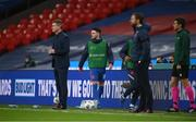 12 November 2020; Declan Rice of England warms up during the International Friendly match between England and Republic of Ireland at Wembley Stadium in London, England. Photo by Stephen McCarthy/Sportsfile