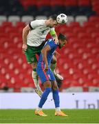 12 November 2020; Shane Duffy of Republic of Ireland in action against Dominic Calvert-Lewin of England during the International Friendly match between England and Republic of Ireland at Wembley Stadium in London, England. Photo by Stephen McCarthy/Sportsfile