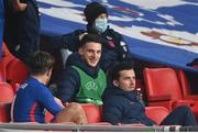 12 November 2020; Declan Rice, right, and Jack Grealish of England during the International Friendly match between England and Republic of Ireland at Wembley Stadium in London, England. Photo by Stephen McCarthy/Sportsfile