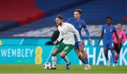 12 November 2020; Jeff Hendrick of Republic of Ireland in action against Jack Grealish of England during the International Friendly match between England and Republic of Ireland at Wembley Stadium in London, England. Photo by Matt Impey/Sportsfile