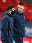 12 November 2020; Declan Rice, right, and Mason Mount of England prior to the International Friendly match between England and Republic of Ireland at Wembley Stadium in London, England. Photo by Stephen McCarthy/Sportsfile
