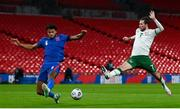 12 November 2020; Alan Browne of Republic of Ireland in action against Tyrone Mings of England during the International Friendly match between England and Republic of Ireland at Wembley Stadium in London, England. Photo by Stephen McCarthy/Sportsfile