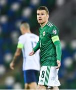 12 November 2020; Steven Davis of Northern Ireland during the UEFA EURO2020 Qualifying Play-Off Final match between Northern Ireland and Slovakia at National Football Stadium at Windsor Park in Belfast. Photo by David Fitzgerald/Sportsfile