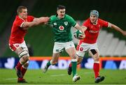 13 November 2020; Jonathan Sexton of Ireland is tackled by Shane Lewis-Hughes of Wales during the Autumn Nations Cup match between Ireland and Wales at Aviva Stadium in Dublin. Photo by Ramsey Cardy/Sportsfile
