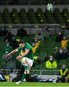 13 November 2020; Jonathan Sexton of Ireland kicks a penalty during the Autumn Nations Cup match between Ireland and Wales at Aviva Stadium in Dublin. Photo by David Fitzgerald/Sportsfile