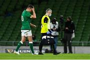 13 November 2020; Jonathan Sexton of Ireland reacts as he leaves the pitch with an injury during the Autumn Nations Cup match between Ireland and Wales at Aviva Stadium in Dublin. Photo by David Fitzgerald/Sportsfile