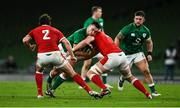 13 November 2020; Rónan Kelleher of Ireland is tackled by Will Rowlands of Wales during the Autumn Nations Cup match between Ireland and Wales at Aviva Stadium in Dublin. Photo by David Fitzgerald/Sportsfile