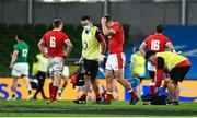 13 November 2020; Jonathan Davies of Wales leaves the pitch with an injury during the Autumn Nations Cup match between Ireland and Wales at Aviva Stadium in Dublin. Photo by David Fitzgerald/Sportsfile