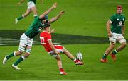 13 November 2020; Callum Sheedy of Wales in action against Tadhg Beirne of Ireland during the Autumn Nations Cup match between Ireland and Wales at Aviva Stadium in Dublin. Photo by Ramsey Cardy/Sportsfile