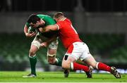 13 November 2020; James Ryan of Ireland is tackled by Samson Lee of Wales during the Autumn Nations Cup match between Ireland and Wales at Aviva Stadium in Dublin. Photo by David Fitzgerald/Sportsfile