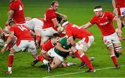 13 November 2020; James Lowe of Ireland scores his side's second try during the Autumn Nations Cup match between Ireland and Wales at Aviva Stadium in Dublin. Photo by Ramsey Cardy/Sportsfile