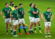 13 November 2020; James Lowe and Jamison Gibson-Park of Ireland at the full time whistle of the Autumn Nations Cup match between Ireland and Wales at Aviva Stadium in Dublin. Photo by Ramsey Cardy/Sportsfile