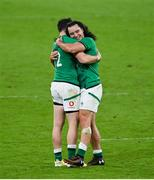 13 November 2020; James Lowe, right, and Robbie Henshaw of Ireland following the Autumn Nations Cup match between Ireland and Wales at Aviva Stadium in Dublin. Photo by Ramsey Cardy/Sportsfile