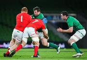 13 November 2020; Cian Healy of Ireland is tackled by Rhys Carre, left, and Justin Tipuric of Wales during the Autumn Nations Cup match between Ireland and Wales at Aviva Stadium in Dublin. Photo by Ramsey Cardy/Sportsfile