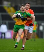 14 November 2020; Eoghan Bán Gallagher of Donegal in action against Stefan Campbell of Armagh during the Ulster GAA Football Senior Championship Semi-Final match between Donegal and Armagh at Kingspan Breffni in Cavan. Photo by Ramsey Cardy/Sportsfile
