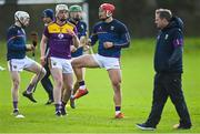 14 November 2020; Lee Chin of Wexford during the warm-up before the GAA Hurling All-Ireland Senior Championship Qualifier Round 2 match between Wexford and Clare at MW Hire O'Moore Park in Portlaoise, Laois. Photo by Piaras Ó Mídheach/Sportsfile