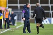 14 November 2020; Wexford manager Davy Fitzgerald on the sideline as linesman Cathal McAllister runs by during the GAA Hurling All-Ireland Senior Championship Qualifier Round 2 match between Wexford and Clare at MW Hire O'Moore Park in Portlaoise, Laois. Photo by Piaras Ó Mídheach/Sportsfile