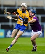 14 November 2020; Ryan Taylor of Clare in action against Kevin Foley of Wexford during the GAA Hurling All-Ireland Senior Championship Qualifier Round 2 match between Wexford and Clare at MW Hire O'Moore Park in Portlaoise, Laois. Photo by Matt Browne/Sportsfile