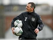 14 November 2020; Republic of Ireland manager Jim Crawford during a Republic of Ireland U21's training session at Tallaght Stadium in Dublin. Photo by Harry Murphy/Sportsfile