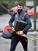 14 November 2020; Aidan Walsh of Cork arrives with a speaker ahead of the GAA Hurling All-Ireland Senior Championship Qualifier Round 2 match between Cork and Tipperary at LIT Gaelic Grounds in Limerick. Photo by Daire Brennan/Sportsfile