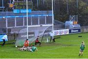 14 November 2020; Aimee Mackin of Armagh shoots to score her side's second goal during the TG4 All-Ireland Senior Ladies Football Championship Round 3 match between Armagh and Mayo at Parnell Park in Dublin. Photo by Sam Barnes/Sportsfile