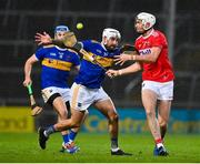 14 November 2020; Patrick Maher of Tipperary in action against Tim O'Mahony of Cork during the GAA Hurling All-Ireland Senior Championship Qualifier Round 2 match between Cork and Tipperary at LIT Gaelic Grounds in Limerick. Photo by Brendan Moran/Sportsfile