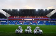 14 November 2020; A view of footballs prior to a Republic of Ireland training session at Cardiff City Stadium in Cardiff, Wales. Photo by Stephen McCarthy/Sportsfile