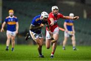 14 November 2020; Patrick Maher of Tipperary is tackled by Tim O'Mahony of Cork during the GAA Hurling All-Ireland Senior Championship Qualifier Round 2 match between Cork and Tipperary at LIT Gaelic Grounds in Limerick. Photo by Brendan Moran/Sportsfile